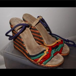 Vintage Marc Jacobs colorful strappy wedges size 6